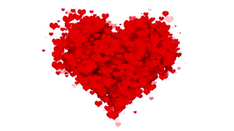 vidéos et rushes de coeurs - concept valentin (boucle) - amour