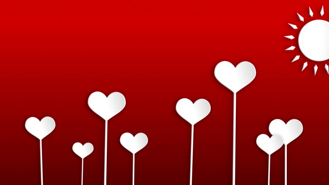 hearts - valentine's concept - valentines background stock videos & royalty-free footage