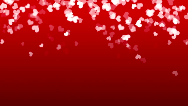hearts - valentine's concept (loop) - valentines background stock videos & royalty-free footage