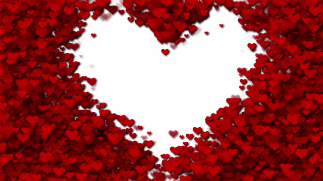 hearts (loopable) - valentines background stock videos & royalty-free footage