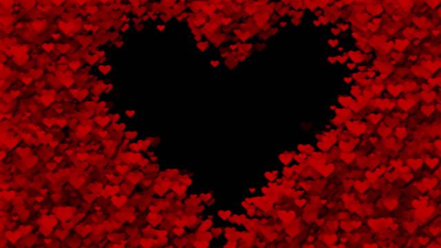 hearts (loopable) - grazia video stock e b–roll