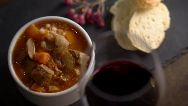 hearty vegetable and meat stew - french food stock videos and b-roll footage