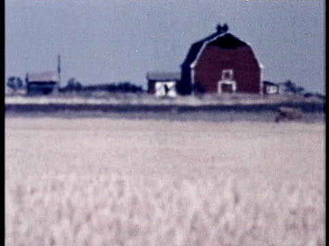 1975 montage ws heat haze with farmhouse in background / united states / audio - country road stock videos & royalty-free footage