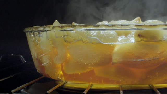 heat rises as pears cook in an oven. - oven stock videos & royalty-free footage