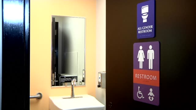 heated national debate over access to bathrooms by transgenders is sweeping the united states after north carolina in march became the first us state... - north carolina us state stock videos & royalty-free footage