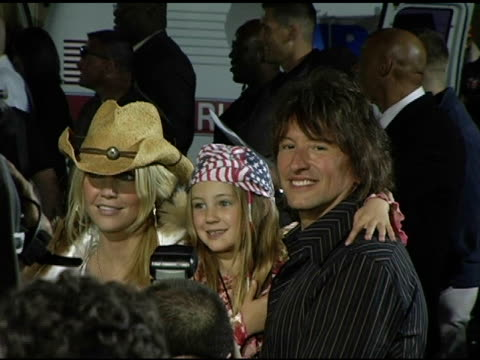 heater locklear daughter and richie sambora at the rockin' the corp an american thank you celebration concert for us marines at camp pendelton marine... - oceanside stock videos and b-roll footage
