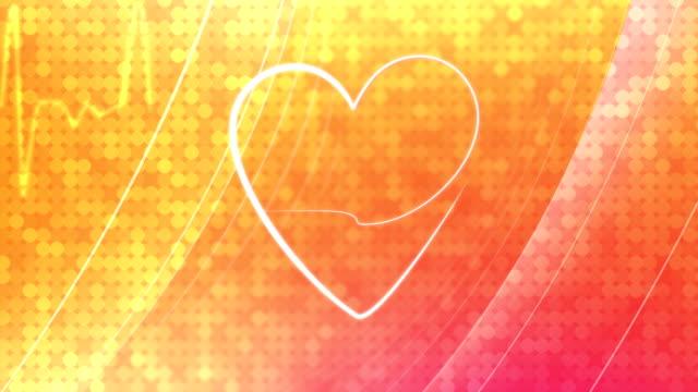 vídeos de stock, filmes e b-roll de heath & ekg-fundo - heart attack