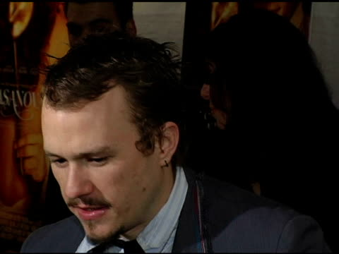 heath ledger and michelle williams at the 'casanova' new york premiere at lowes lincoln square in new york, new york on december 11, 2005. - heath ledger stock videos & royalty-free footage