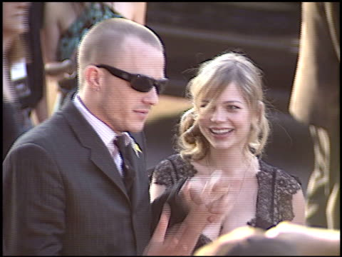 heath ledger at the premiere of 'the brothers grimm' at dga theater director's guild in los angeles california on august 8 2005 - dga theater stock videos & royalty-free footage
