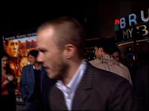 heath ledger at the premiere of 'the four feathers' on september 17, 2002. - heath ledger stock videos & royalty-free footage