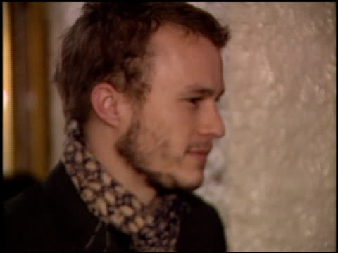 heath ledger at the premiere of 'the hours' on december 18, 2002. - heath ledger stock videos & royalty-free footage