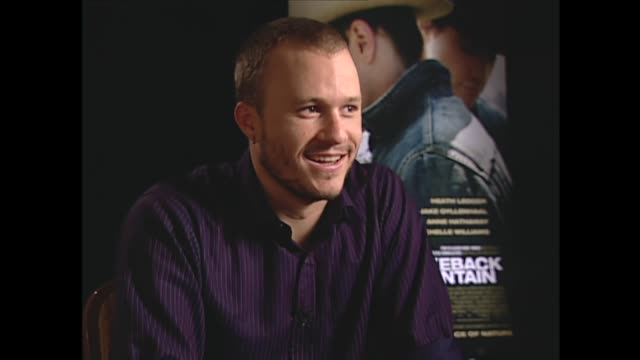heath ledger on filming love scenes with jake gyllenhaal - heath ledger stock videos & royalty-free footage