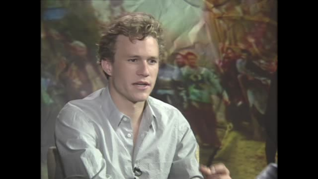 heath ledger on his acting dreams - heath ledger stock videos & royalty-free footage