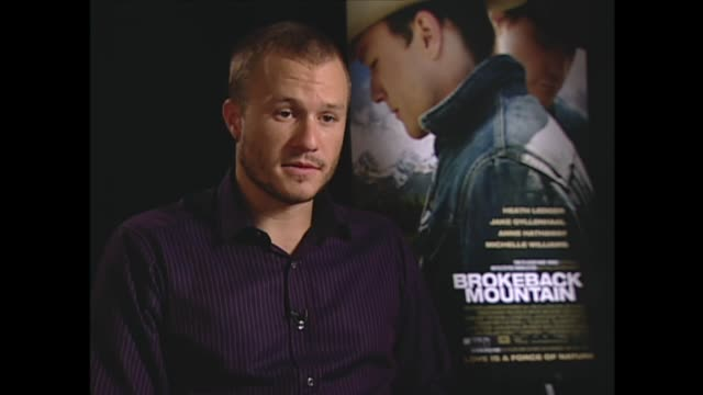 vídeos de stock, filmes e b-roll de heath ledger on receiving critical acclaim - heath ledger