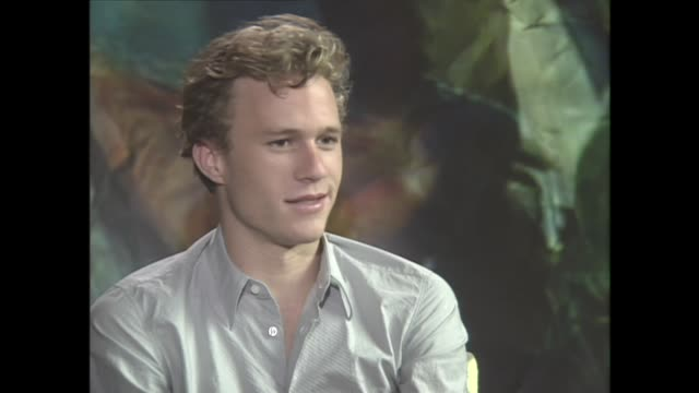 vídeos de stock, filmes e b-roll de heath ledger talks about his love of acting - heath ledger