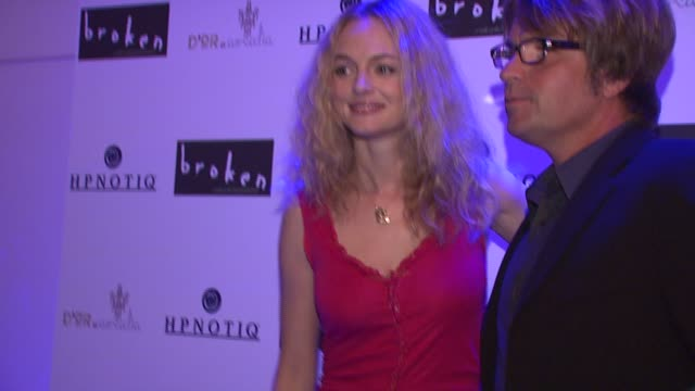 heather graham and allan white at the 'broken' premiere and after party at d'or at amalia in new york new york on october 2 2007 - dor stock videos & royalty-free footage