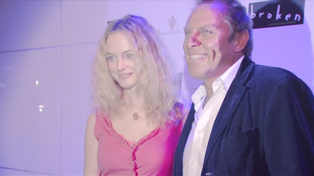 heather graham and guest at the 'broken' premiere and after party at d'or at amalia in new york new york on october 2 2007 - dor stock videos & royalty-free footage