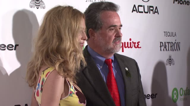 heather graham and guest at the oxfam event honoring sean penn and emile hirsch for 'into the wild' hosted by esquire magazine at eqsuire north in... - esquire magazine stock videos & royalty-free footage