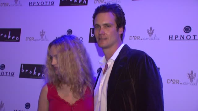 heather graham and randall batinkoff at the 'broken' premiere and after party at d'or at amalia in new york new york on october 2 2007 - dor stock videos & royalty-free footage