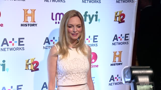 Heather Graham at 2014 AE Networks Upfront Arrivals at Park Avenue Armory on May 08 2014 in New York City