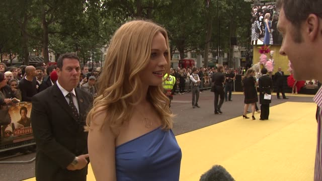 heather graham at the the hangover european premiere at london england - the morning after stock videos & royalty-free footage
