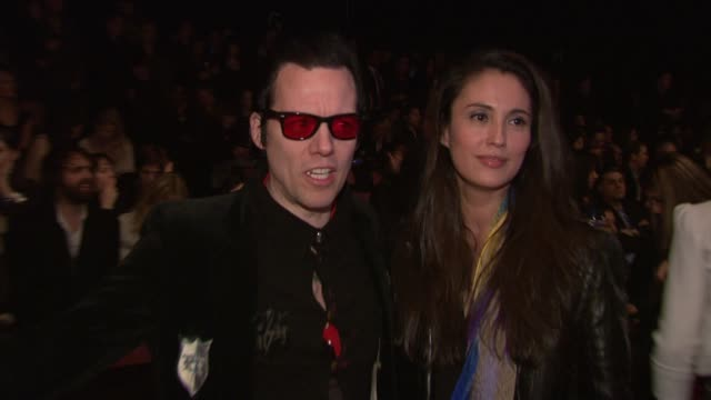 heather lamastra michael h and geri gongora attend the tommy hilfiger fall 2011 show during mercedesbenz fashion week fall 2011 at the tommy hilfiger... - tommy hilfiger designer label stock videos and b-roll footage