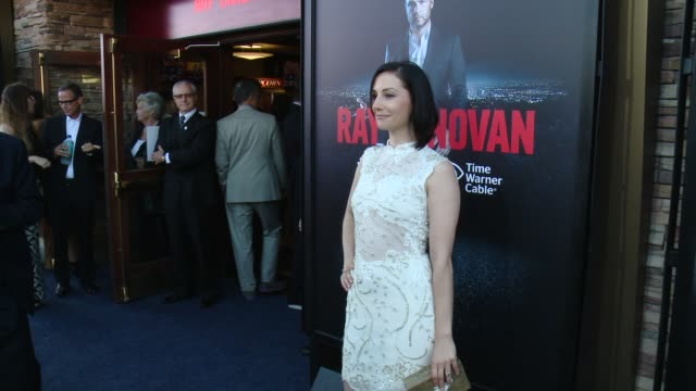 heather mccomb at showtime and time warner cable celebrate season two of ray donovan in los angeles ca - showtime video stock e b–roll