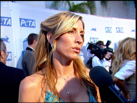 Heather Mills McCartney on how she got involved with PeTA at the PeTA's 25th Anniversary Gala And Humanitarian Awards Show at Paramount Studios in...