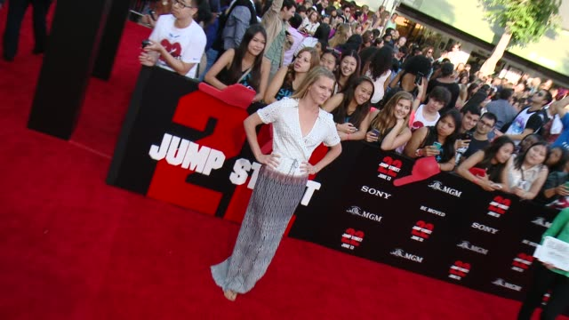 heather morris at 22 jump street los angeles premiere at regency village theatre on june 10 2014 in westwood california - regency style stock videos and b-roll footage