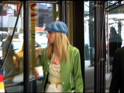 heather morris does some window shopping while on her way to the set of the season finale of 'glee' in times square in new york 04/28/11 - theatre district stock videos & royalty-free footage