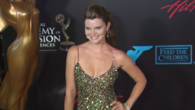 heather tom at the 37th annual daytime emmy awards at las vegas nv - heather stock videos & royalty-free footage