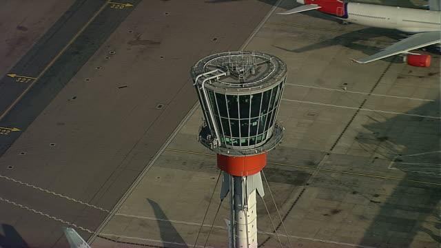 AERIAL Heathrow Aiport Control Tower