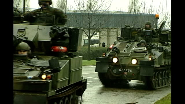 armoured army vehicles along as patrolling outside airport building after terrorist attack threat - waterboarding stock videos & royalty-free footage