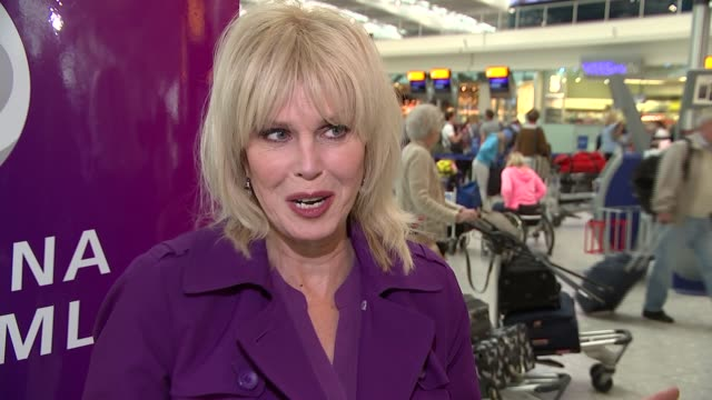 heathrow airport celebrates its 70th anniversary joanna lumley interview england london int gv's of floor signs showing iconic moments / joanna... - joanna lumley stock videos & royalty-free footage