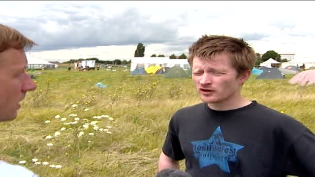 climate change protest camp: day 1; alan lewis interview sot - day 1 stock videos & royalty-free footage
