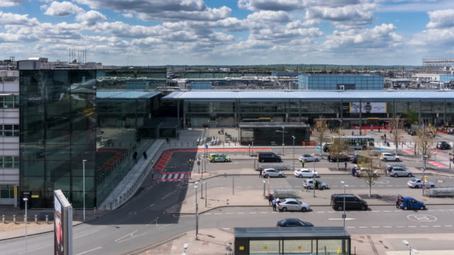 heathrow airport terminal 3 - time lapse - heathrow airport stock videos and b-roll footage