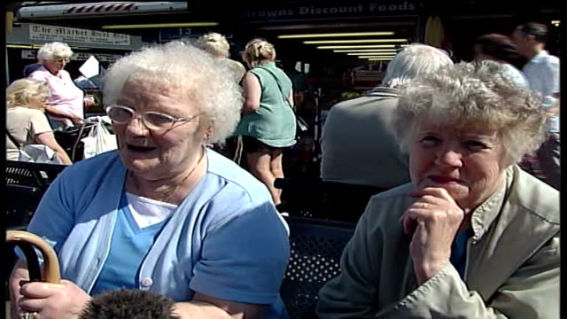 Record temperatures in Britain Vox pops with elderly Bury residents SOT