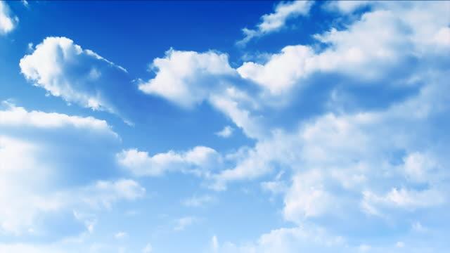 Céu Paisagem com nuvens (Parte 1, 2) time lapse, HD