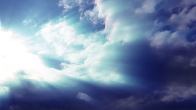 heavenly clouds with sun rays - 20 seconds or greater stock videos & royalty-free footage