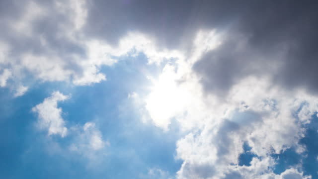 heavenly clouds with sun rays - overcast stock videos & royalty-free footage