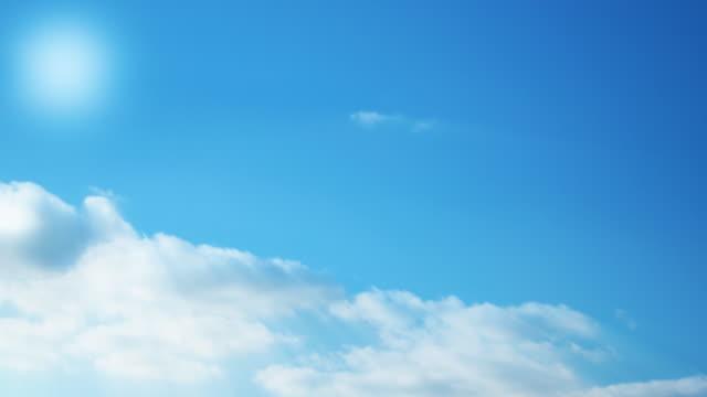 vídeos y material grabado en eventos de stock de heavenly sin fisuras bucle de nubes - sólo cielo