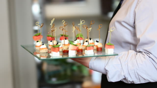 heavenly canapés - seafood stock videos & royalty-free footage