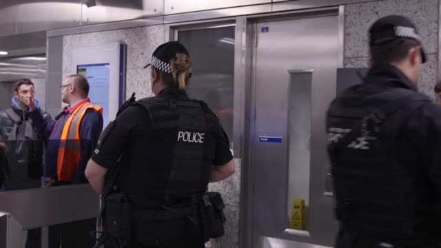 Heavily armed British Transport Police officers could be seen on the London underground following the Parsons Green terror attack