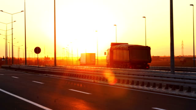 heavy cargo on the road - transportation stock videos & royalty-free footage