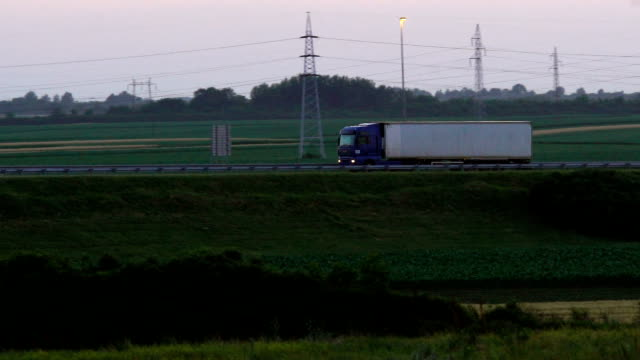 heavy cargo on the road - truck stock videos & royalty-free footage