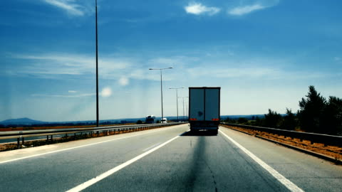 heavy cargo on the road - articulated lorry stock videos & royalty-free footage