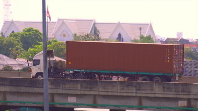 heavy cargo on the road - convoy trucks stock videos and b-roll footage