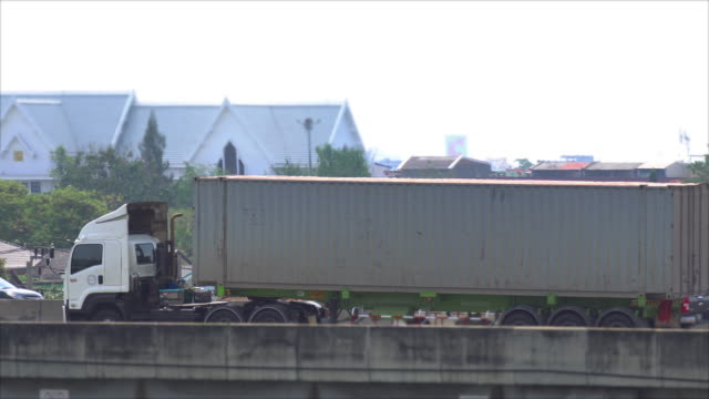 heavy cargo on the road - cargo container stock videos & royalty-free footage