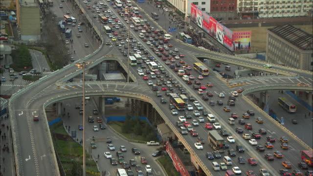 WS HA Heavy downtown traffic, Beijing, China