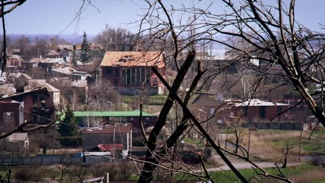 heavy fighting has taken place around shyrokyne on the outskirts of the strategic port city of mariupol the last major city still in government hands... - shaky stock videos & royalty-free footage